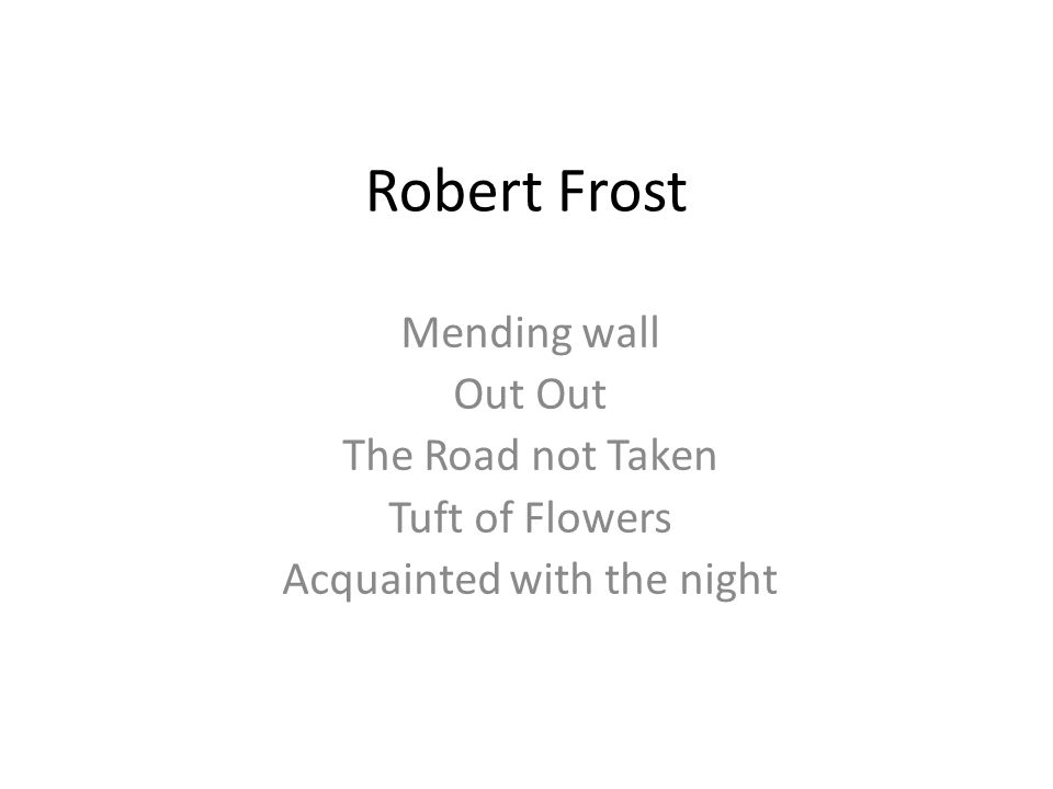 "analysis of acquainted with the night An analysis of ""acquainted with the night"" by robert frost many of robert frost's works have been interpreted as autobiographical, incorporating his love for the natural world in the thoughts and feelings of the speakers of his poetry."