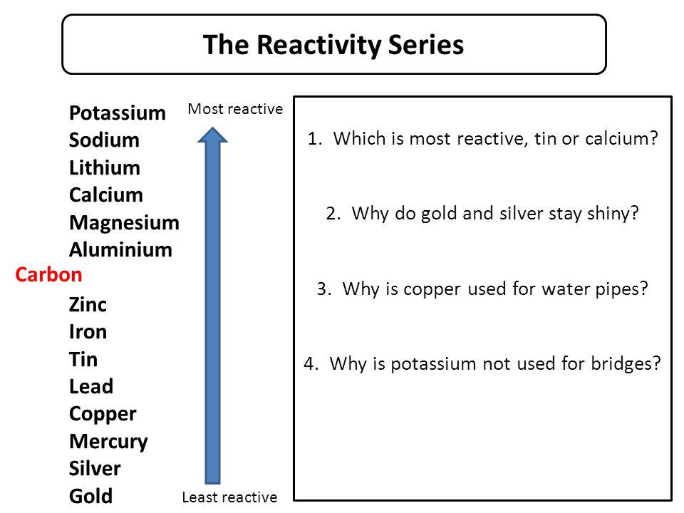 magnesium calcium lithium sodium and potassium essay Magnesium and water potassium, sodium, lithium and calcium: reactions with steam the reaction between lithium and sulphuric acid.