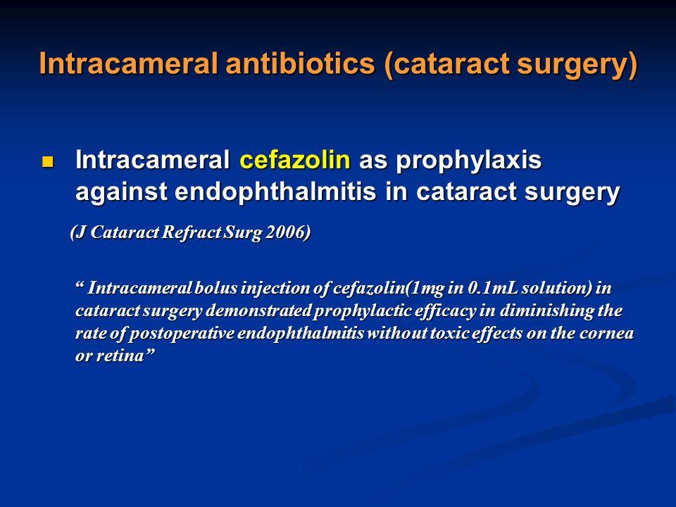 intracameral antibiotics cataract surgery