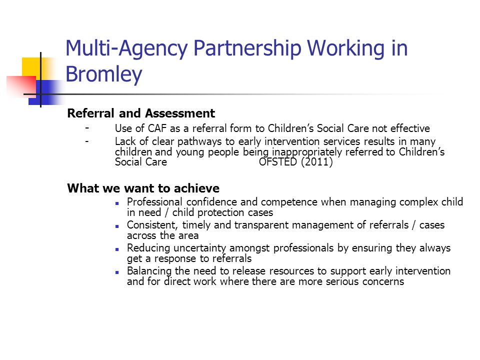 Bromley Children'S Safeguarding Board Partnership Launch