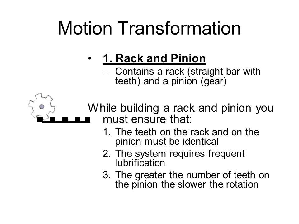 Motion Transformation 1.
