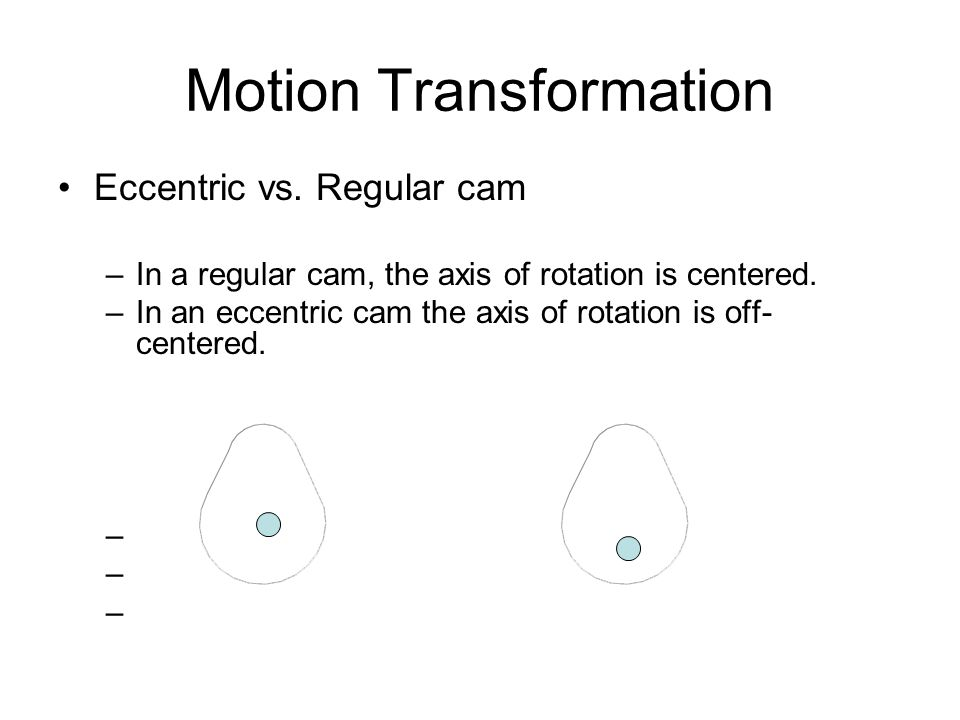 Motion Transformation Eccentric vs.