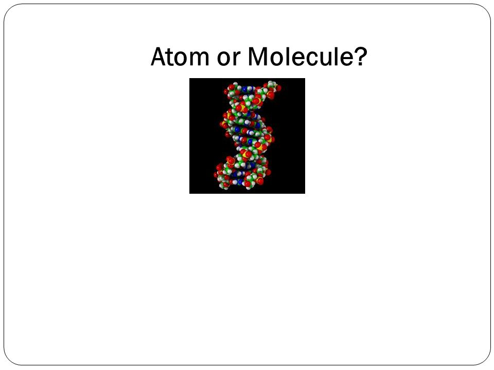 Atom or Molecule