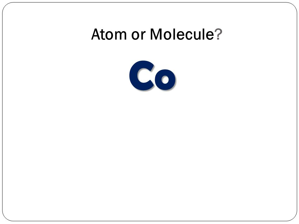 Atom or Molecule Co