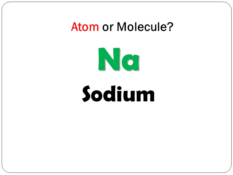 Atom or Molecule Na Sodium