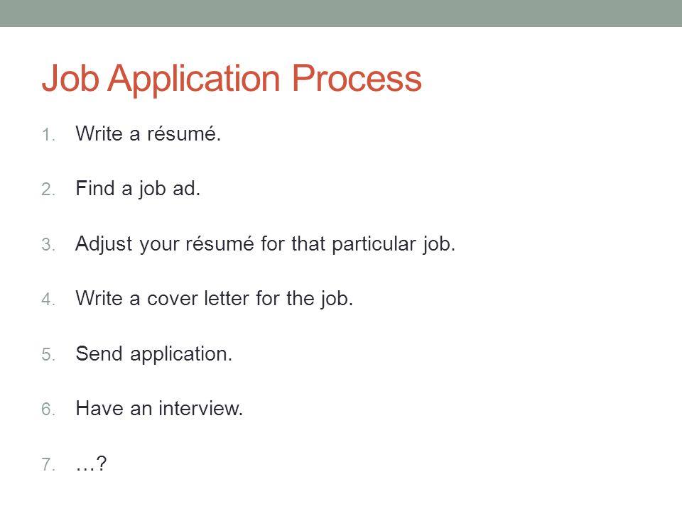 how do you write a resume for a job application