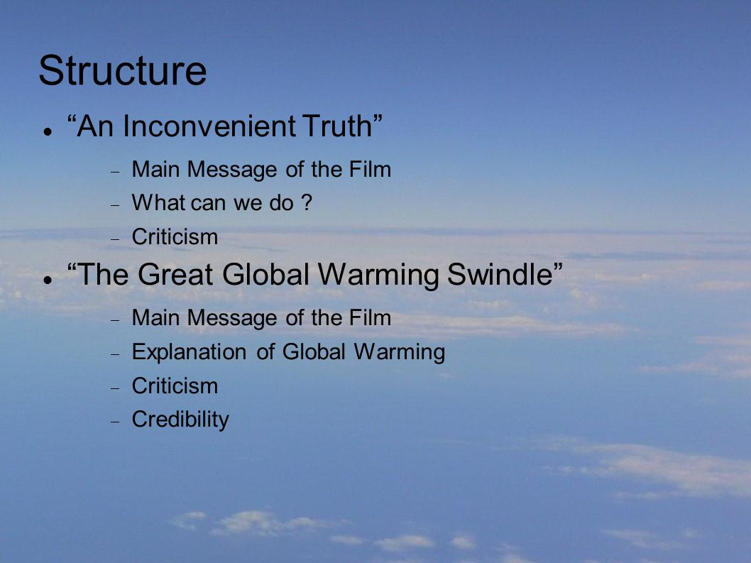 an inconvenient truth vs the great global warming swindle essay An inconvenient truth vs the great global warming swindle essay an inconvenient truth vs the who were interviewed in the great global warming swindle.