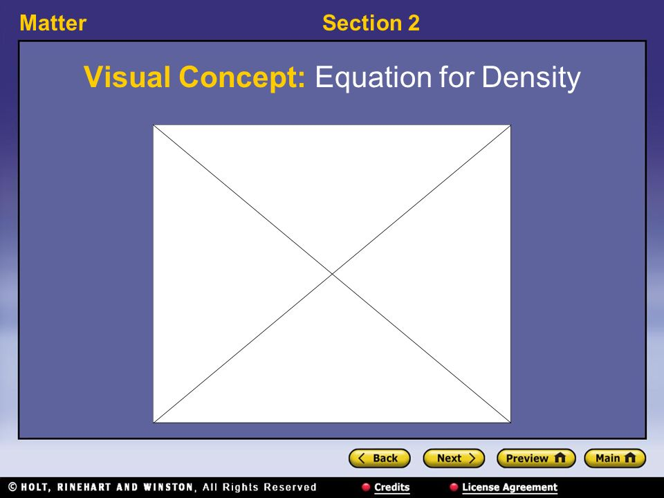 MatterSection 2 Visual Concept: Equation for Density
