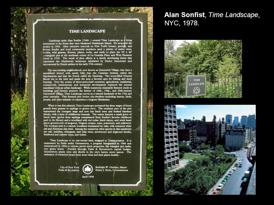 alan sonfist time landscape