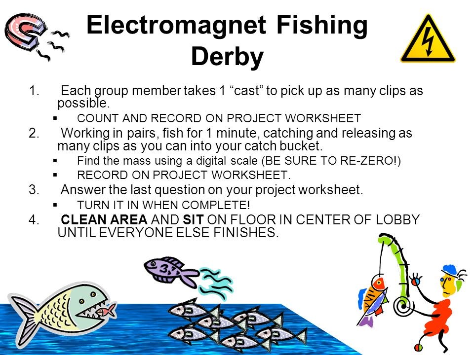 33110 Electromagnet Fishing Derby 2010 Take out your project – Massachusetts Agi Worksheet