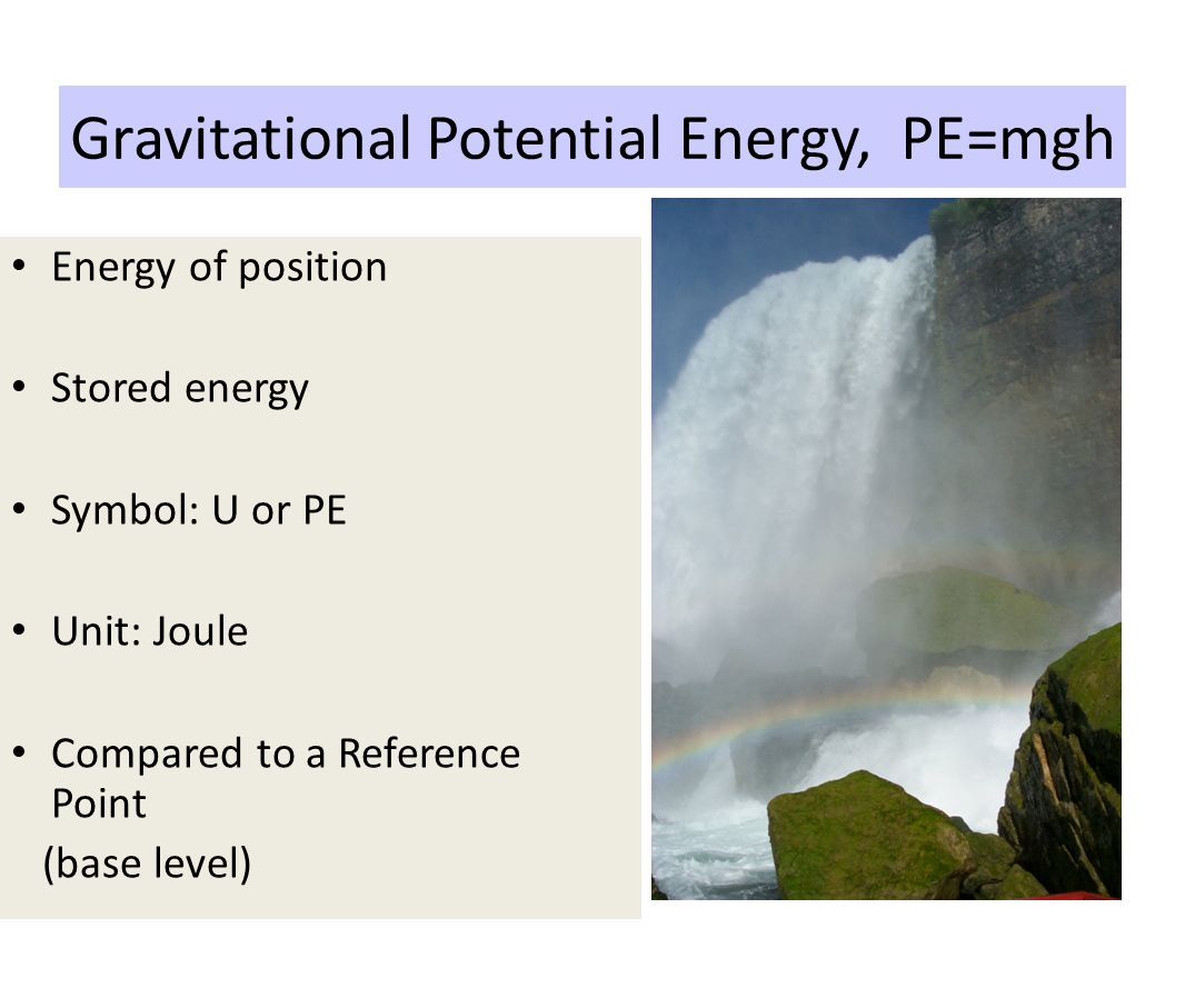 potential energy stored energy of position Elastic potential energy elastic potential energy is potential energy stored as a result of deformation of an elastic object, such as the stretching of a spring it is equal to the work done to stretch the spring, which depends upon the spring constant k as well as the distance stretched.