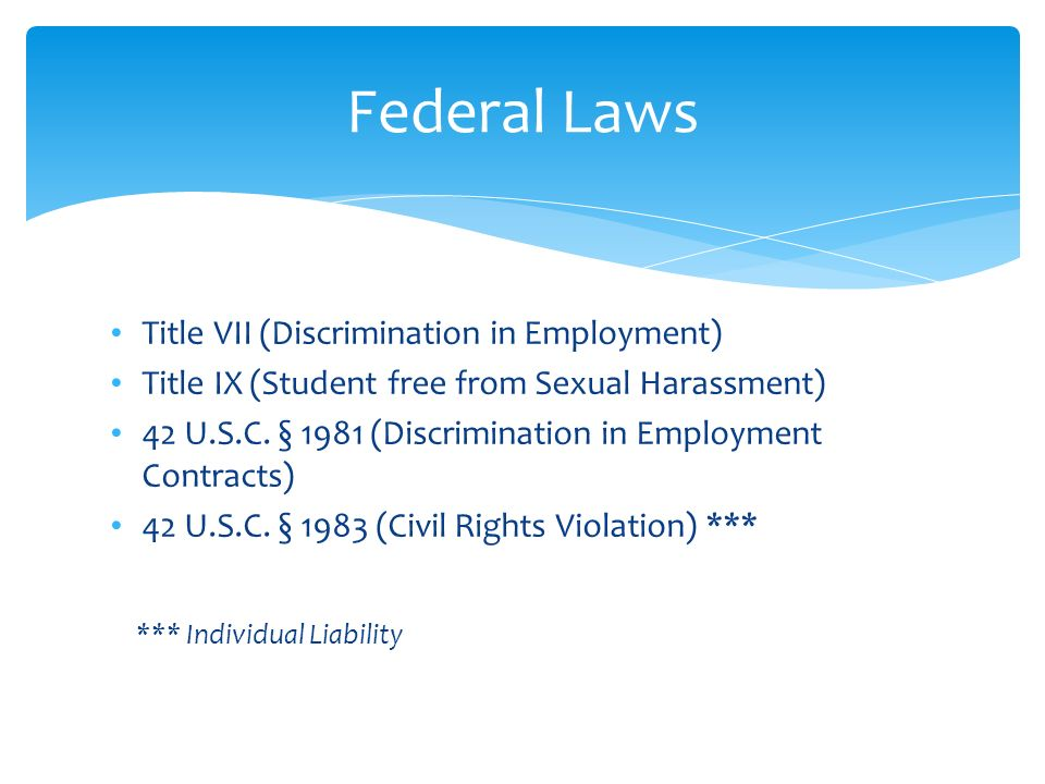 Federal Sexual Harassment Laws