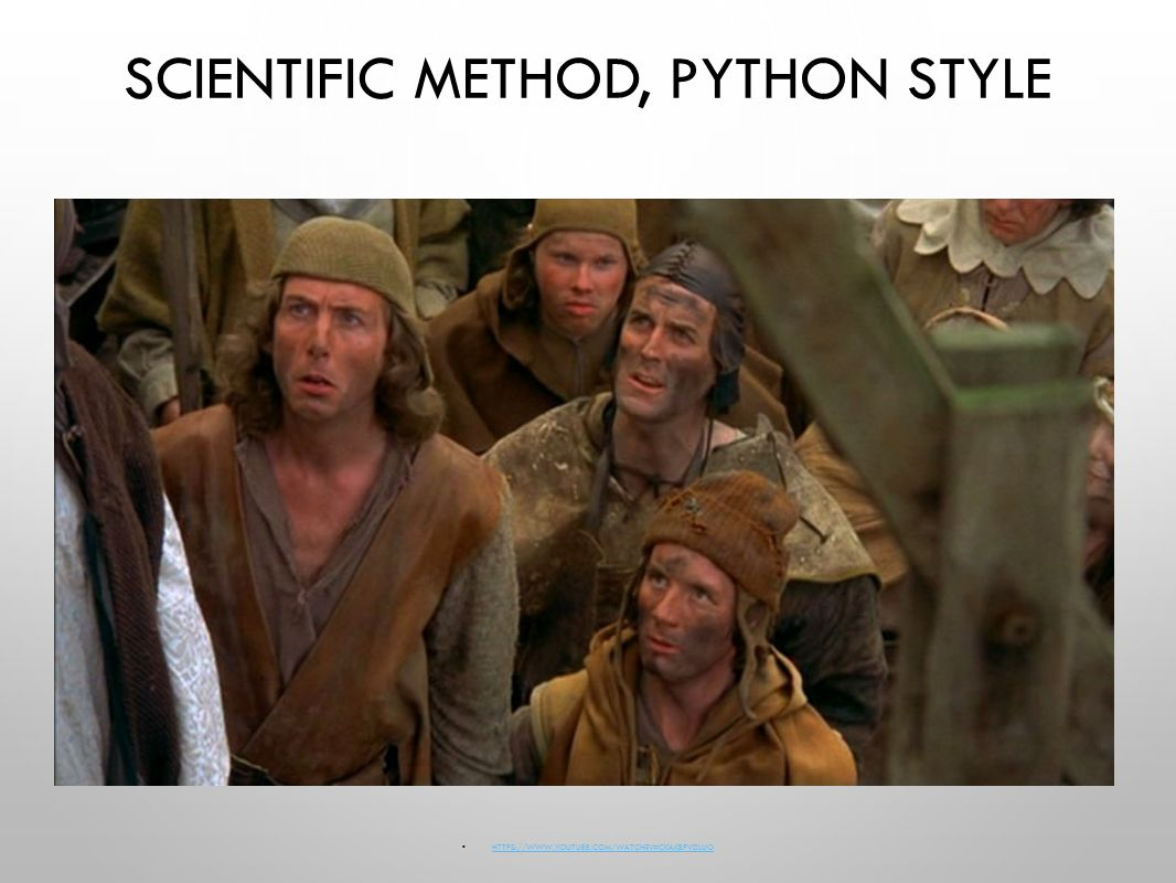 SCIENTIFIC METHOD, PYTHON STYLE   V=CKAKBPVDLUO