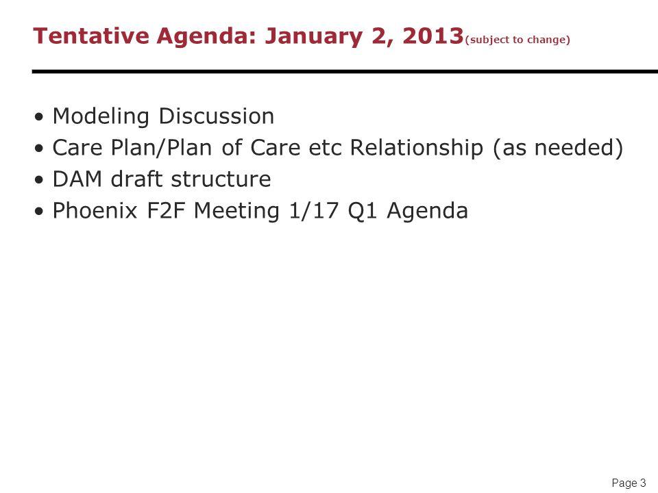 Care Plan CP Meeting Agenda January 02 EDT Laura Heermann – Draft Meeting Agenda