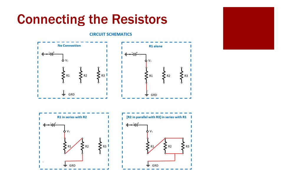 Connecting the Resistors