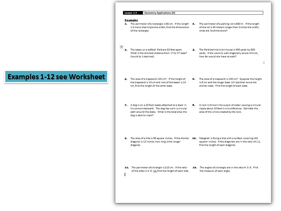Lesson 13 formulasmemorize 1 1area of a triangle 2 2 7 examples 1 12 see worksheet ccuart Choice Image