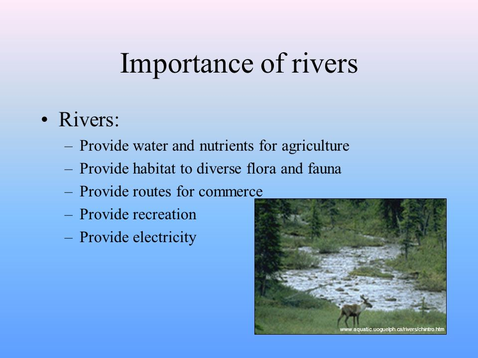River Systems Earth Space Science Mr Coyle The Hydrologic Cycle - Importance of rivers