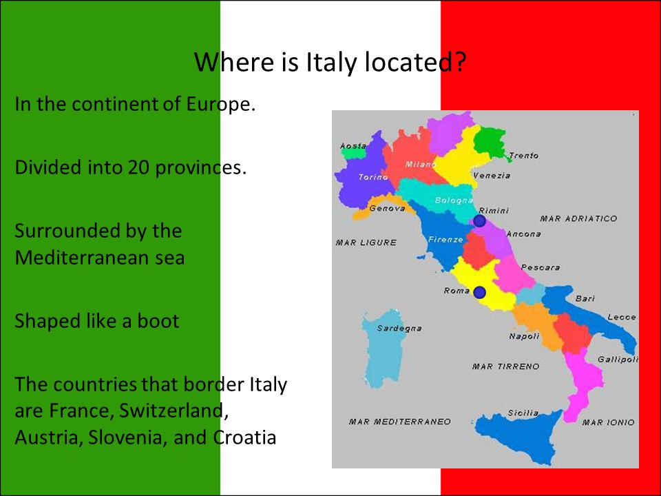 Italy Where Is Italy Located In The Continent Of Europe Divided - Which continent is austria located