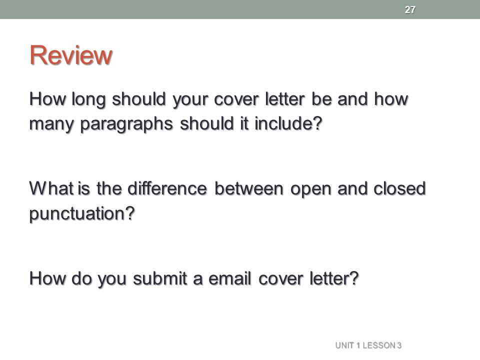 review how long should your cover letter be and how many paragraphs should it include - How Long Should Cover Letters Be