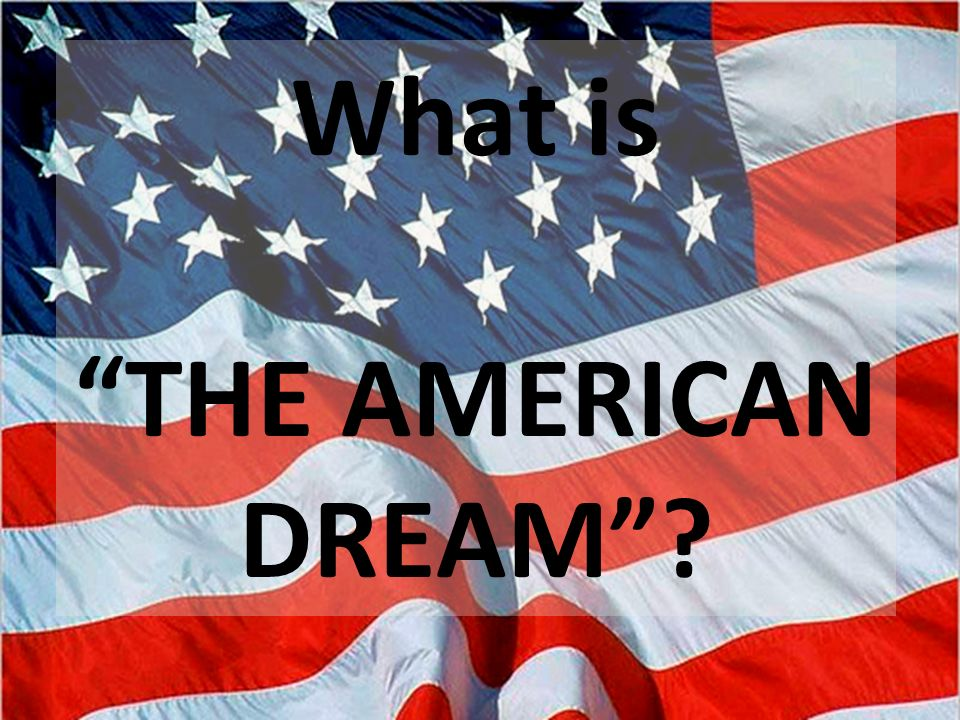 definitions of the american dream