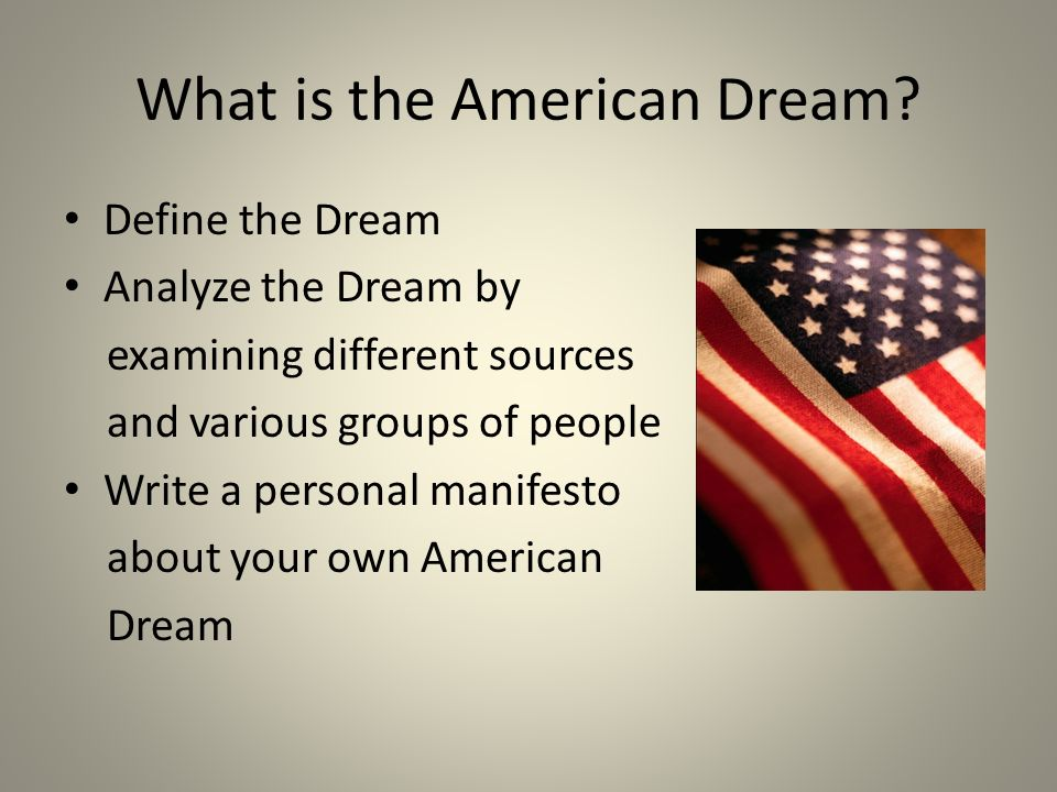 American dream essay topics