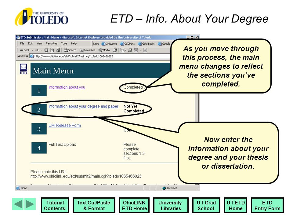 Ohiolink electronic theses and dissertations center (etd)