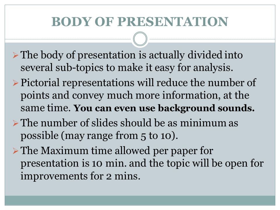 state level symposium on social issues sample slide show this is body of presentation iuml131152 the body of presentation is actually divided into several sub topics