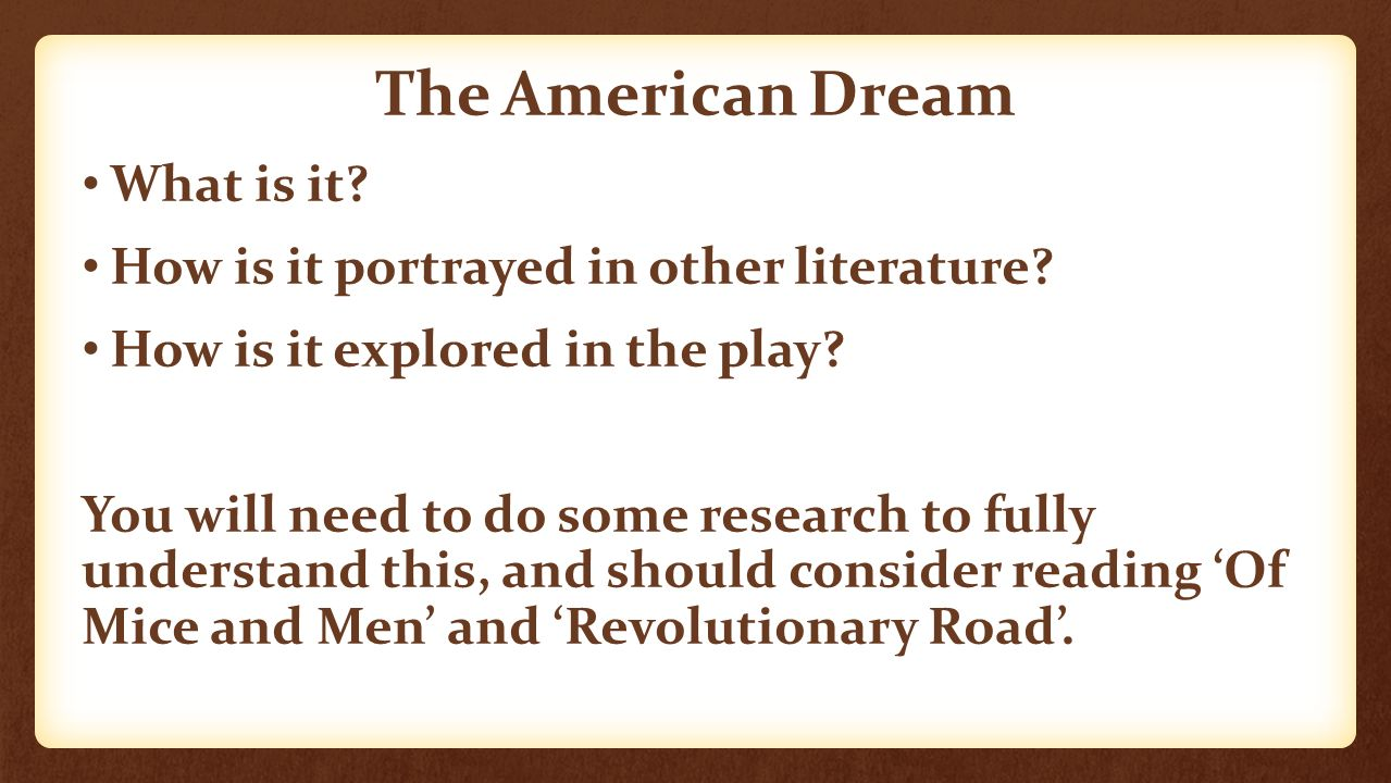 the theme of american dream in death of a salesman by arthur miller Death of a salesman study guide contains a biography of arthur miller, literature essays, quiz questions, major themes, characters, and a full summary and analysis.