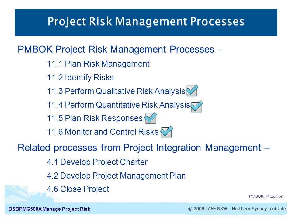 bsbpmga manage project risk manage project risk project risk  2 bsbpmg508a