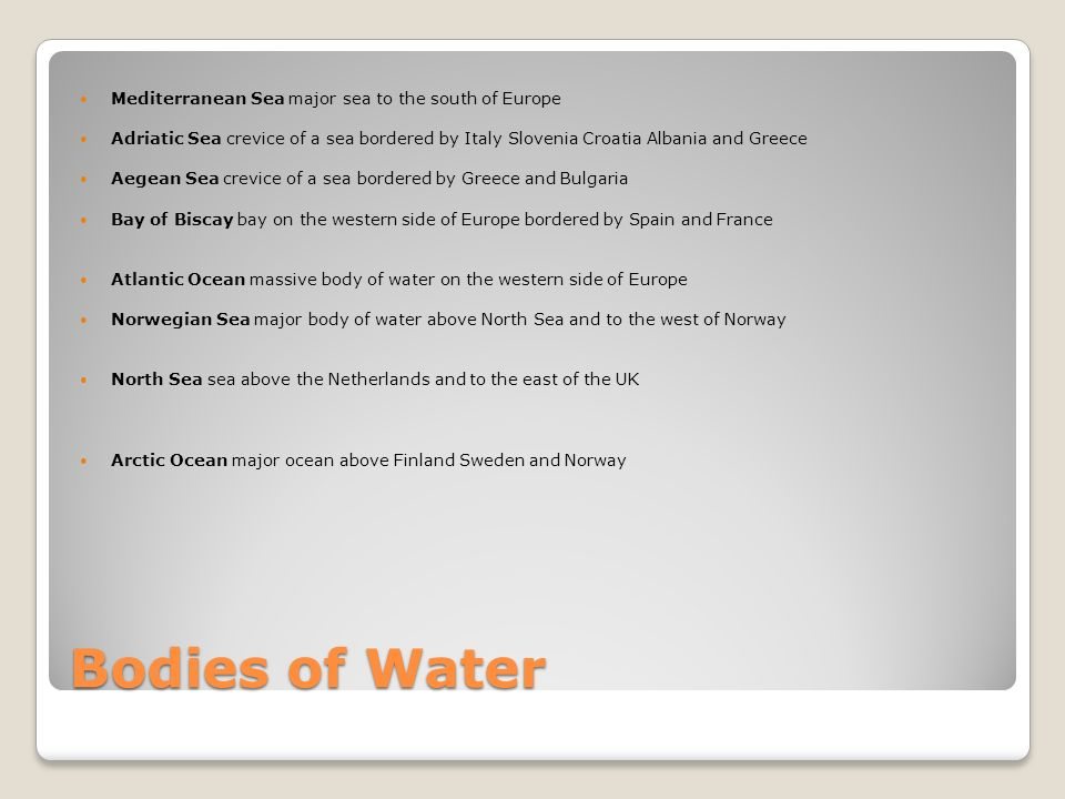 Describe And List The Different Land Forms And Bodies Of Water - Sweden map bodies of water