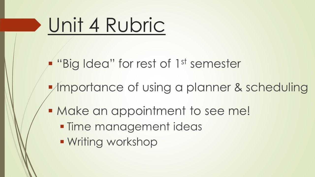 unit 4 rubric Unit 4 rubric copy edited: --small a 60kb acrobat (pdf) file.