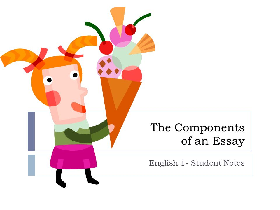 the components of an essay english student notes ppt 1 the components of an essay english 1 student notes