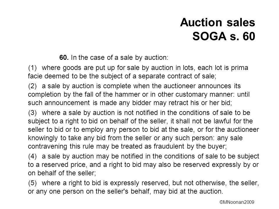 ©MNoonan2009 Auction sales SOGA s. 60 60.
