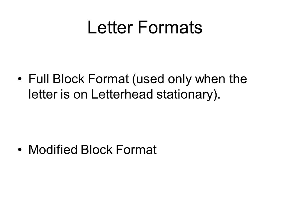 writing a letter format