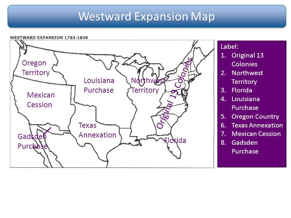 19 Westward Expansion Map