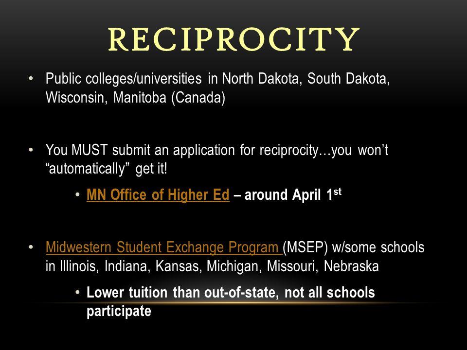 wisconsin minnesota tuition reciprocity