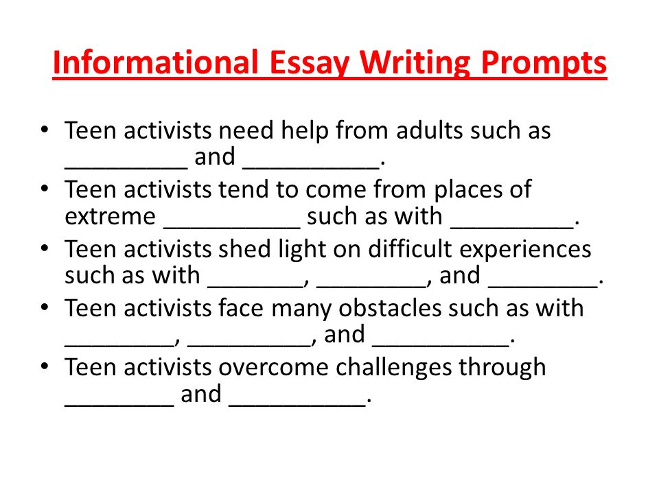 pssa writing prompts
