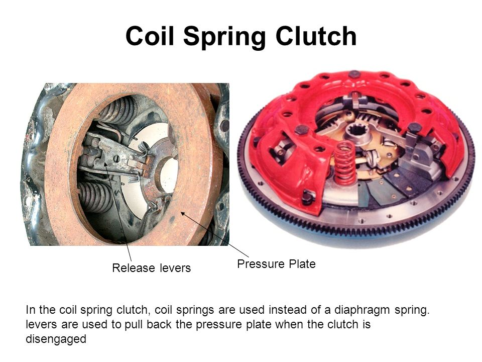 Coil Spring Clutch In the coil spring clutch, coil springs are used instead of a diaphragm spring.