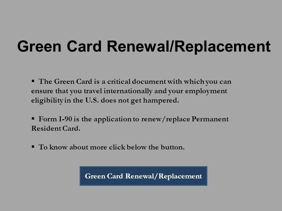 Big Problems with an Expired Green Card U.S. Immigration Center ...