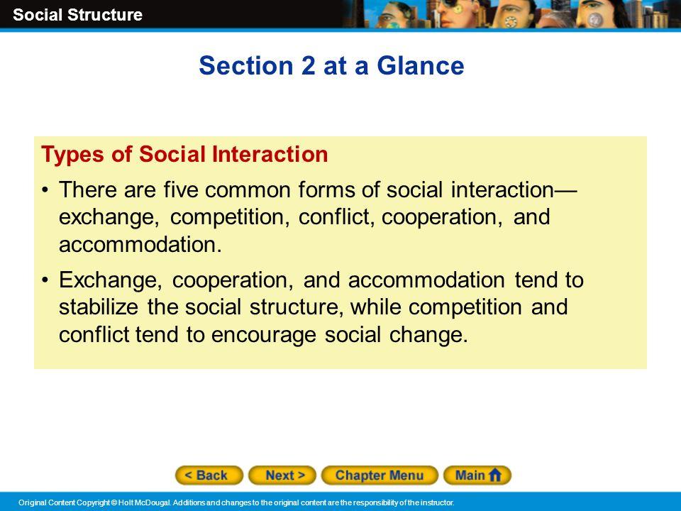Social Structure Original Content Copyright © Holt McDougal.