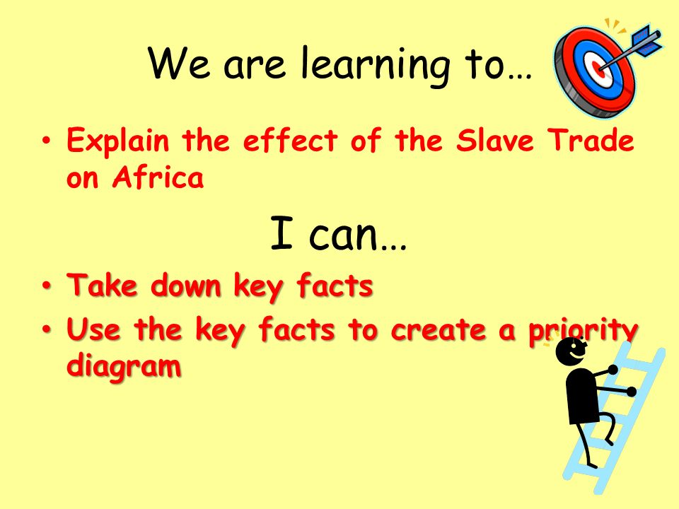 How did the slave trade affect Africa? Lesson starter Describe the ...