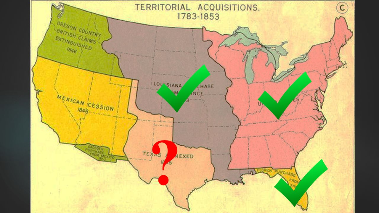 Westward Expansion MANIFEST DESTINY AND THE RISE OF SECTIONALISM - Map of us territorial acquisitions