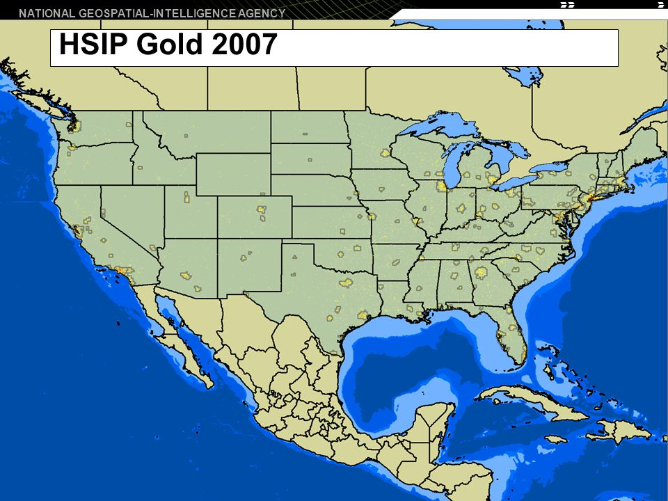 NATIONAL GEOSPATIAL-INTELLIGENCE AGENCY 6 HSIP Gold 2007