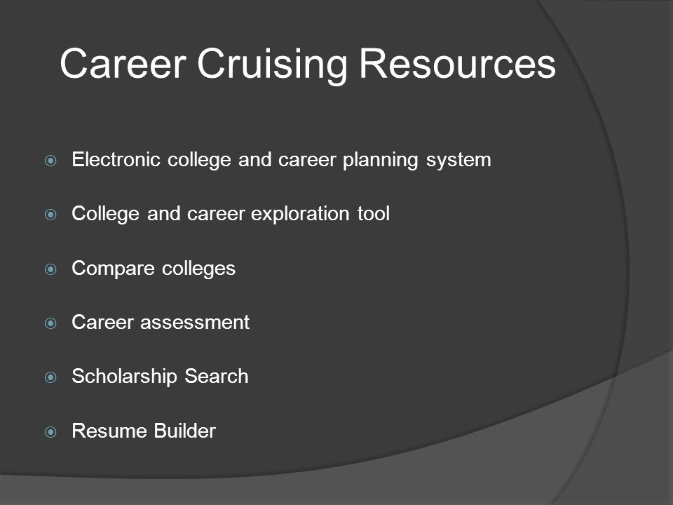 33 career cruising resources electronic college and career planning system college and career exploration tool compare colleges career - Career Cruising Resume Builder