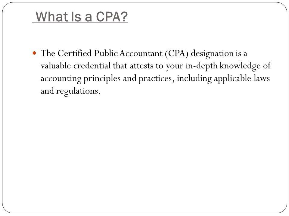 CPA Designation ?