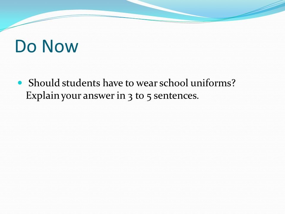 arguing essay school uniforms