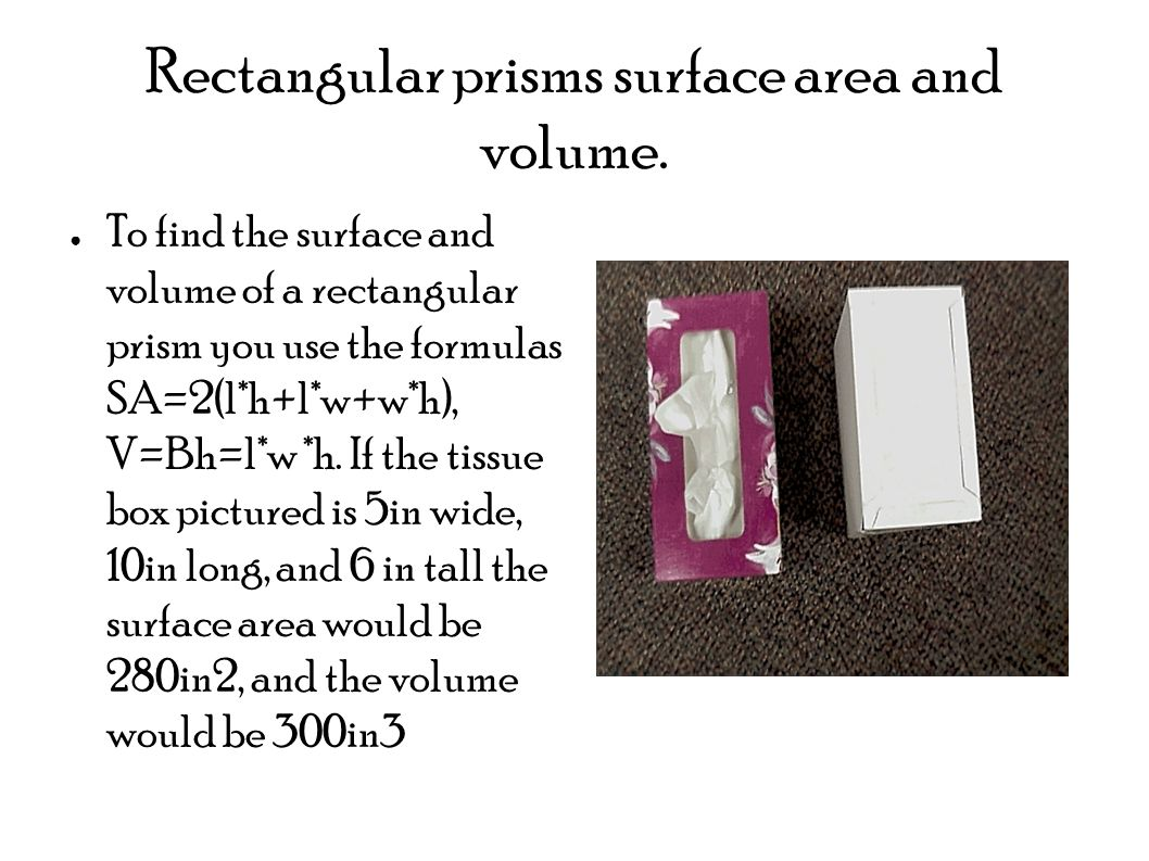 Rectangular Prisms Surface Area And Volume