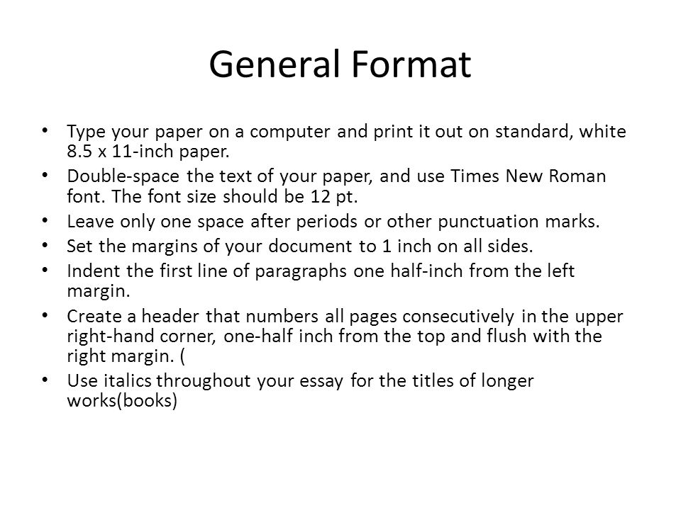 typing an essay format Discover great tips and basic rules that will help you write a winning apa format essay menu how to write an essay in apa format share pin email search the site go.