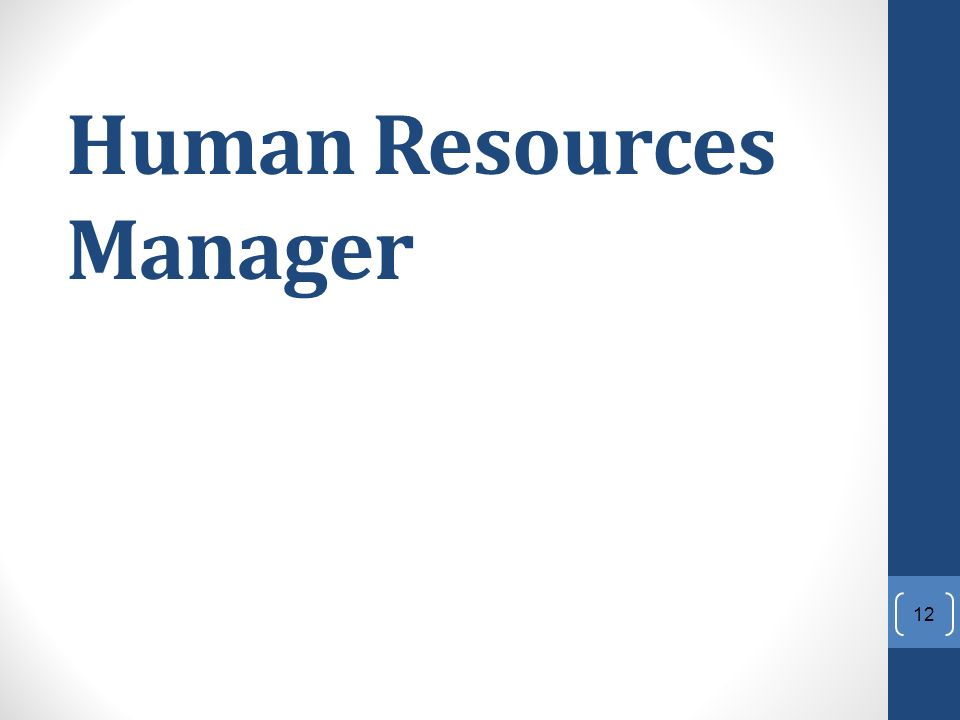 Human Resources Manager 12