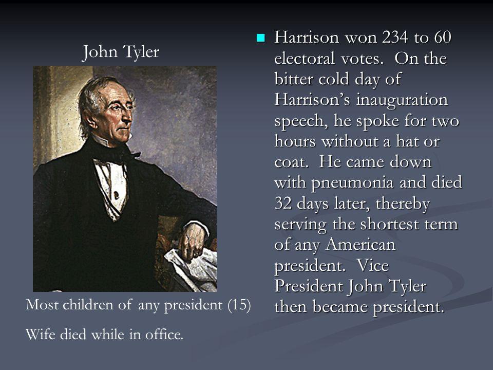 Harrison won 234 to 60 electoral votes.